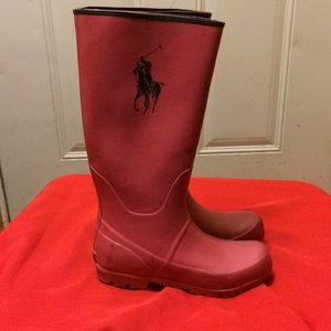 Polo rain boots 6 as is